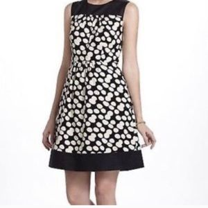 Anthropologie liefnotes notched dots dress
